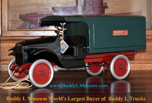 Antique Buddy L Trucks, 1920s Buddy L Trucks Information Buddy L Museum Buying Antique Buddy L Toys Free Buddy L Truck Appraisal Free Toy Appraisals Rare Buddy L Trucks For Sale
